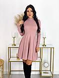 Короткое ангоровое платье 50-599, фото 3