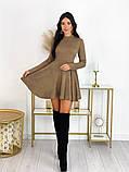 Короткое ангоровое платье 50-599, фото 8