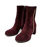 Ботинки с каблуком 6см, цвет бордо, в наличии размер 37, фото 4