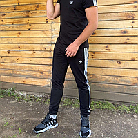 Спортивные штаны Adidas мужские черные весна/осень в стиле Адидас