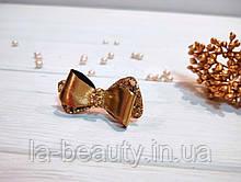 Бантик для собаки (ВИДЕО) из экокожи золотой блестящий из коллекции Leather Eternity Pets Couturier SIMBA