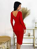 Повседневное платье с разрезом на юбке 50-606, фото 2