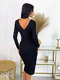Повседневное платье с разрезом на юбке 50-606, фото 5