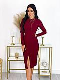 Повседневное платье с разрезом на юбке 50-606, фото 6