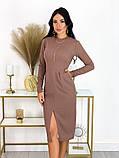 Повседневное платье с разрезом на юбке 50-606, фото 7