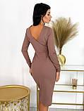 Повседневное платье с разрезом на юбке 50-606, фото 8