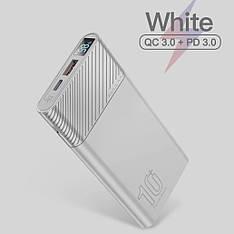 Оригінальний Power Bank KUULAA KL-YD12 10000 маг з підтримкою швидкої зарядки QC3.0 USB Type-C PD 18 Вт White