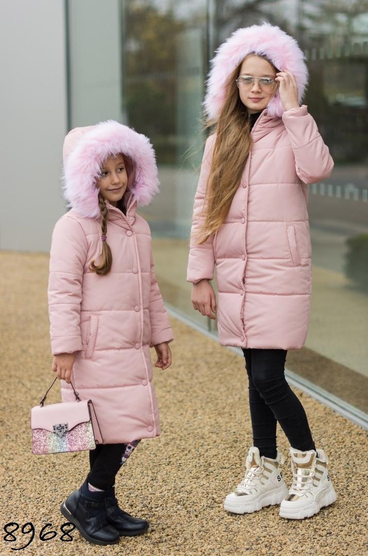 Куртка зимняя детская плащевка Аляска+силикон 128 134 140 146 152 158