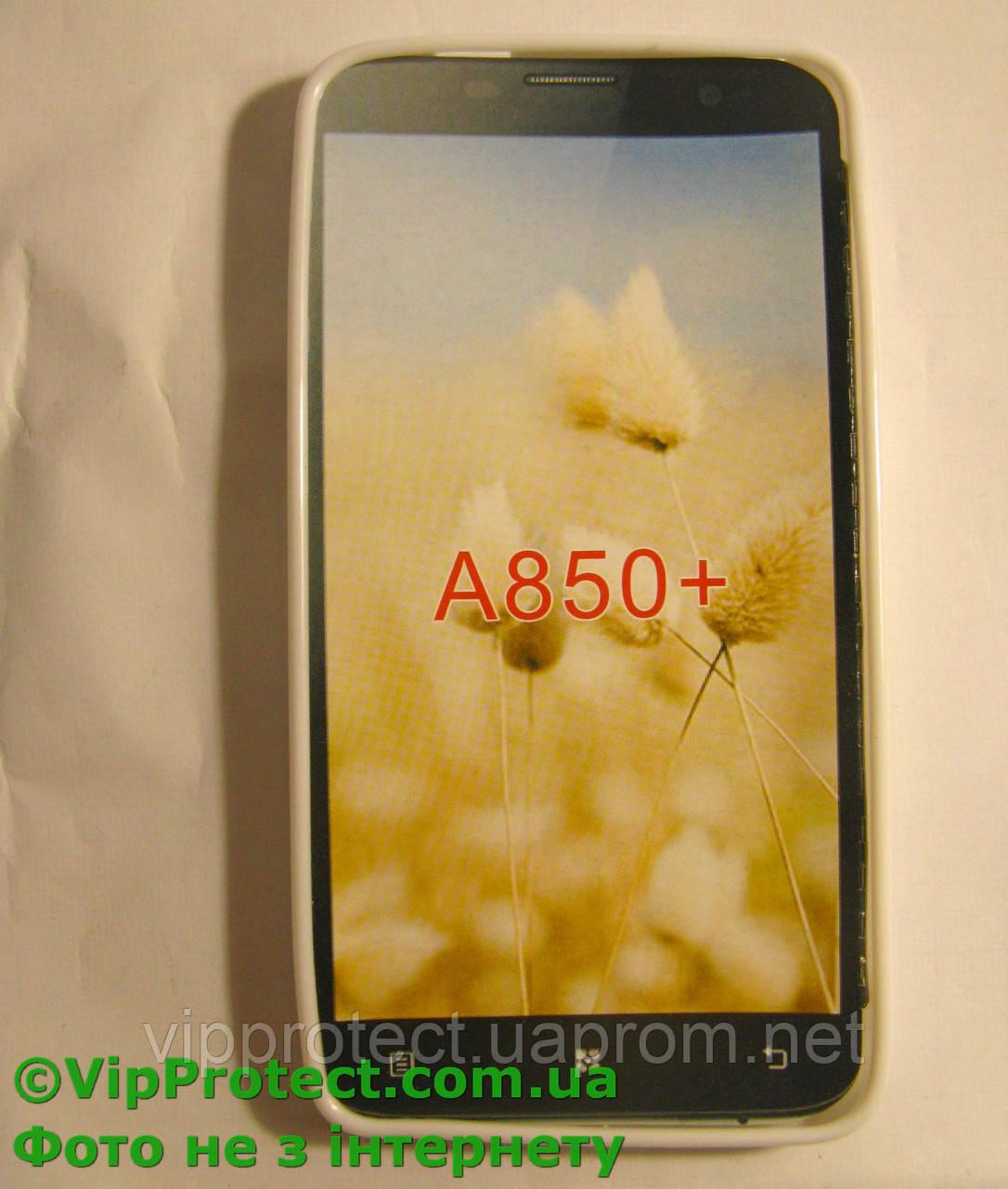 Lenovo A850+, белый_силиконовый чехол