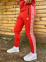 Спортивные штаны Adidas мужские красные весна/осень в стиле Адидас