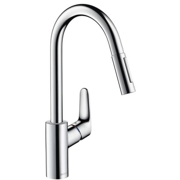 Смесители для кухни Hansgrohe Смеситель для кухни с выдвижным душем Hansgrohe Focus 31815000