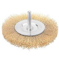 Щетка дисковая гофрированная проволока ПРОФИ 50 мм, хвостовик 6.35 мм Tolsen 77540