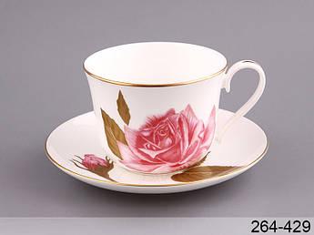 Чашка с блюдцем чайная роза Lefard 2пр