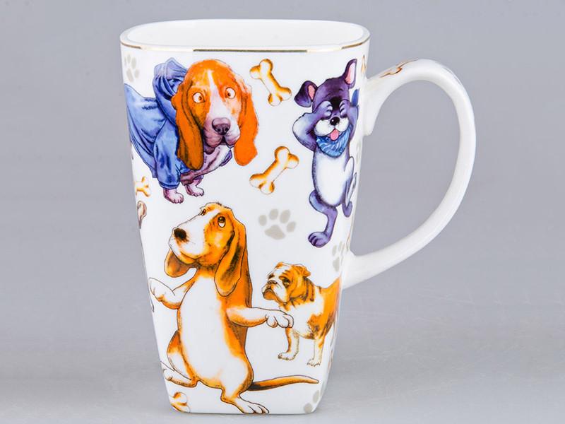 Висока чашка Собаки 14см 600мл