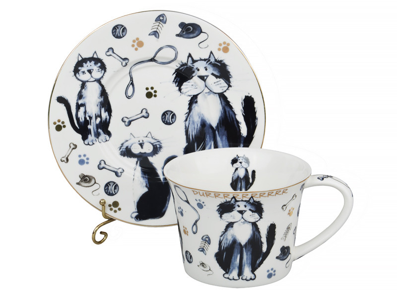 Чайный набор Кот и Пес Lefard 12пр