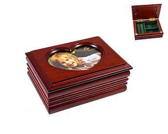 Дерев'яна шкатулка King Wood Тайвань 9х12,5х5см