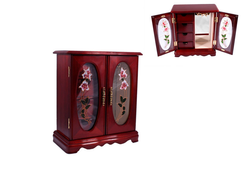 Деревянный шкафчик для украшений King Wood Тайвань 11,5х23х27см