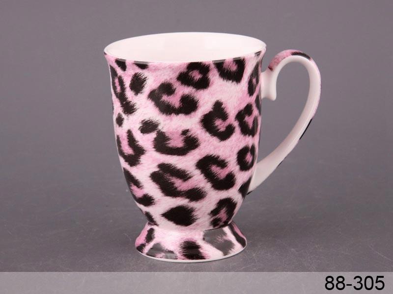 Чашка розовый леопард Lefard 280мл