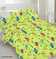 Полуторное постельное белье Бязь Голд -Тачки маквін