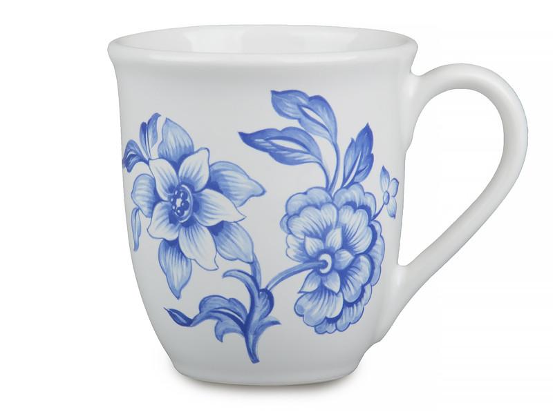 Чашка Nuova CER Fioriblu 380мл