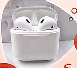 Бездротові навушники Air Pro 4 Білі в стилі Apple AirPods сенсорні з кейсом + чохол, фото 4