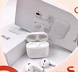 Бездротові навушники Air Pro 4 Білі в стилі Apple AirPods сенсорні з кейсом + чохол, фото 5