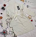 Жіноче плаття гольф з люрексом біле, фото 2