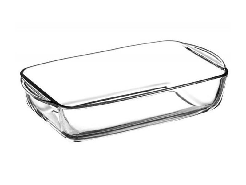 Стеклянная овальная форма для запекания Borcam 40х19см 3.85л