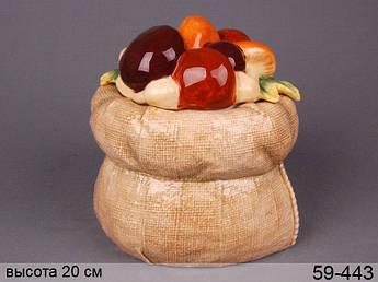 Конфетница мешочек с грибами Lefard 20см