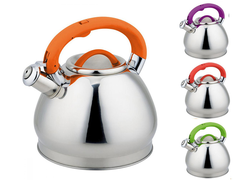 Чайник для плиты с прорезиненной ручкой RAINSTAHL 3л