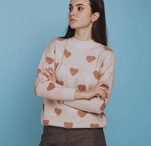 Жіночий кашеміровий светр бежевий