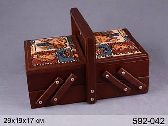 Скринька для рукоділля дерев'яна домашні улюбленці Lefard 29х19х17