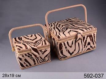 Шкатулки для рукоділля зебра Lefard 190/280мм 2пр