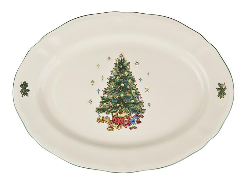 Овальное блюдо Christmas Tree 360мм