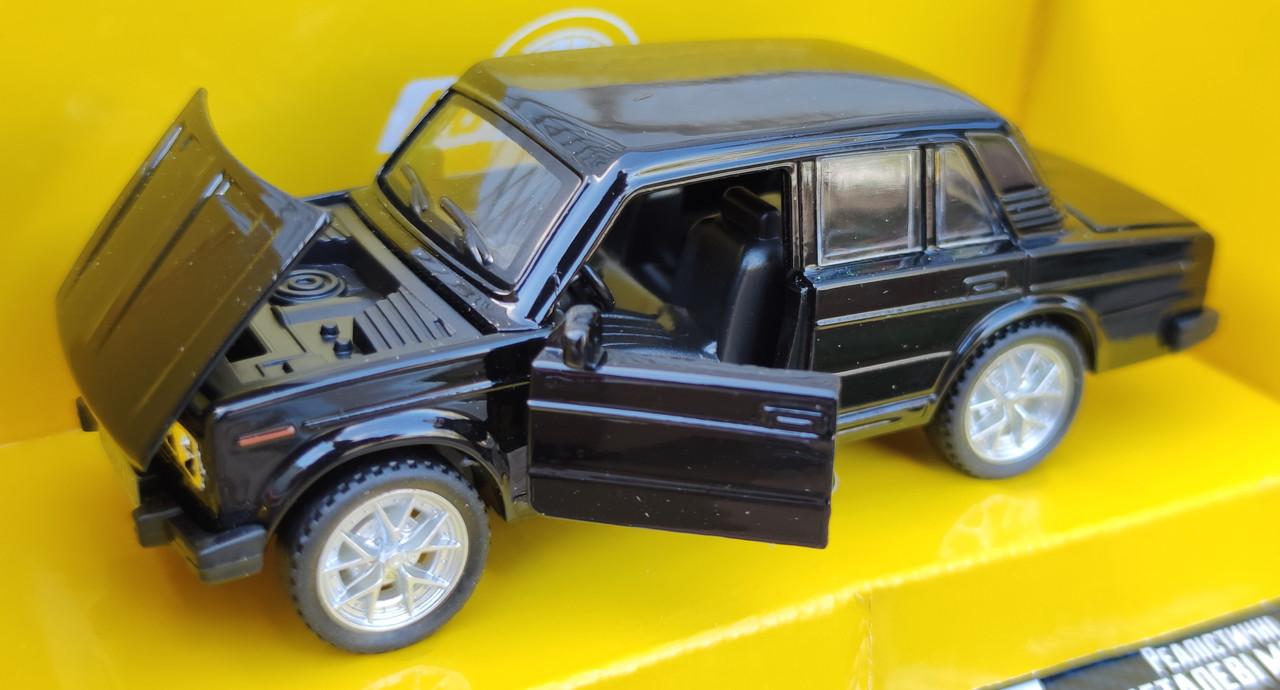 Детская металлическая машинка Жигули ВАЗ 2106 1:32 метал черный