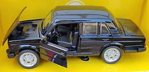 Детская металлическая машинка Жигули ВАЗ 2106 1:32 метал черный, фото 2
