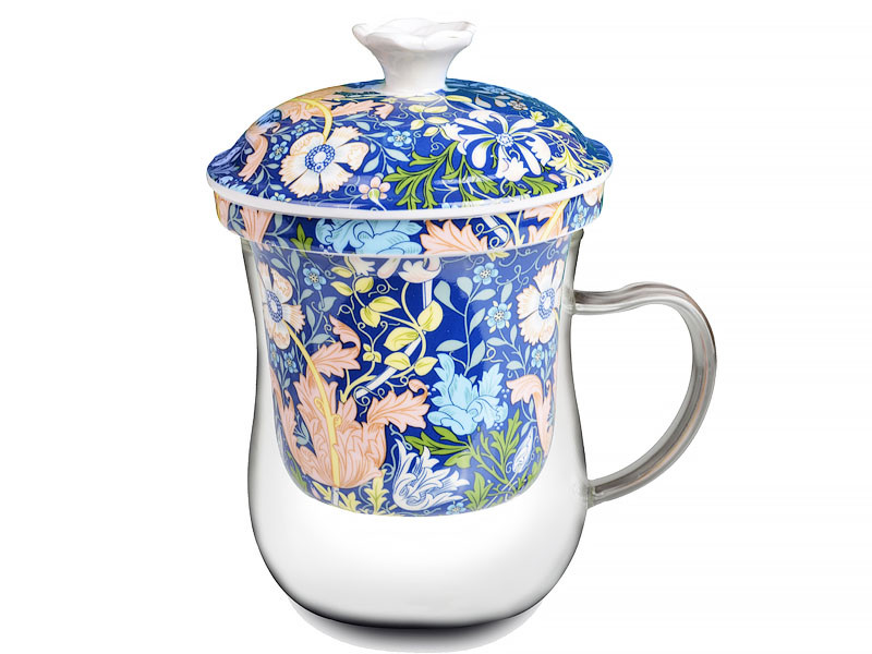Заварочная чашка У. Моррис синяя 400мл
