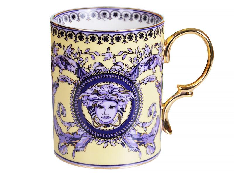 Чашка Versace (Версаче) синя 400мл