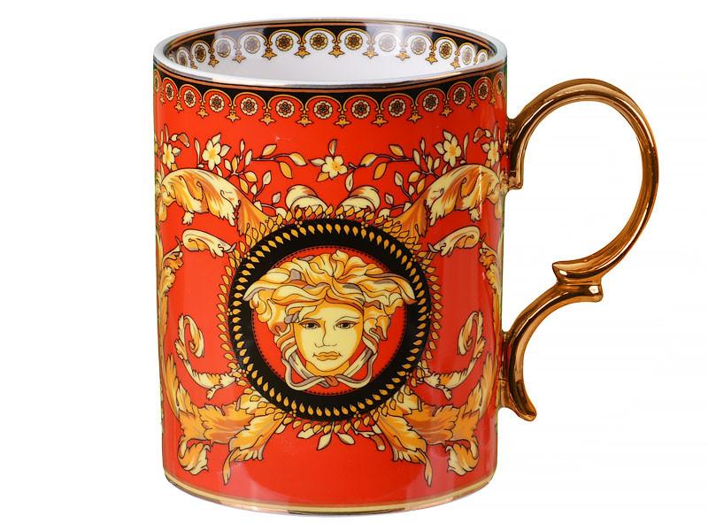 Чашка Versace (Версаче) помаранчева 400мл