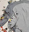 Теплый вязаный женский свитер серый с вышивкой, фото 2