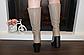 Сапоги женские зимние бежевые на каблуке натуральная кожа код С681-1, фото 3