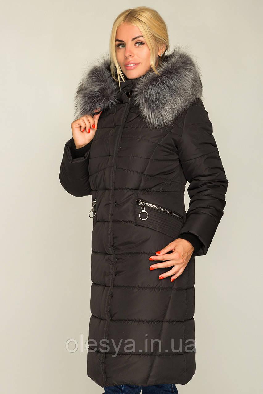 Зимнее молодежное пальто Miranda в черном цвете Размеры 44- 58