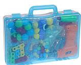 Конструктор мозаика пазл детский Puzzle Peg с шуруповертом в чемодане ( 224 детали ), фото 5