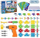 Конструктор мозаика пазл детский Puzzle Peg с шуруповертом в чемодане ( 224 детали ), фото 3