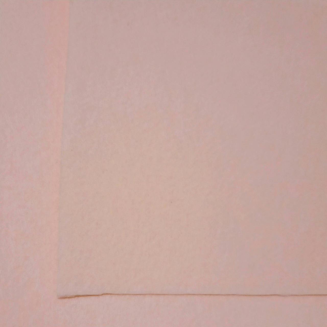 Фетр корейский жесткий 1.2 мм, 20 на 30 см ПУДРОВЫЙ