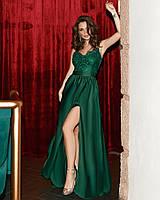 Женское вечернее платье макси с разрезом, фото 1