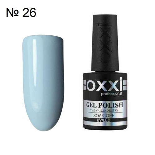 Гель-лак Oxxi professional (10 мл) №026 (нежно-голубой, эмаль)
