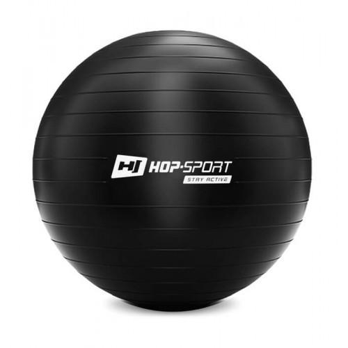 Фитбол Hop-Sport 65 см черный + насос 2020