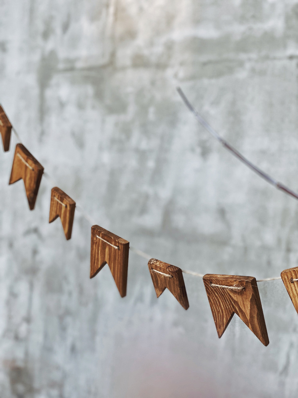 Деревянные флажки (гирлянда) Advent