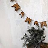 Деревянные флажки (гирлянда) Advent, фото 2